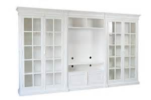 White Bookcase Wall Unit by Cabinets Amp Bookcases Xavier Furniture Hamptons Style