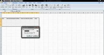 how to insert a table in excel 2007