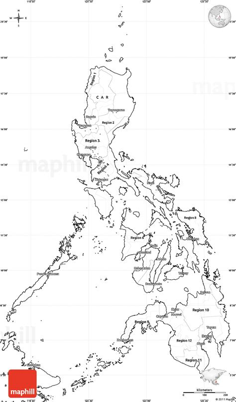 printable map philippines blank simple map of philippines