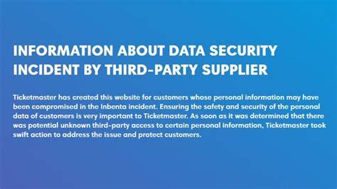ticketmaster uk admits major security breach