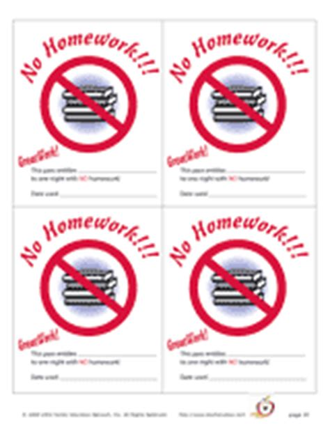 free homework pass template homework certificates printable free new calendar