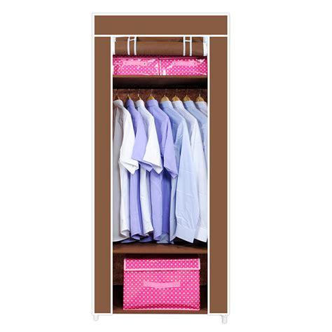 Cloth Storage Wardrobe by Brown Portable Corner Wardrobe Single 3 Tier Fabric Storage Closet Dust Cloth Cabinet Storage