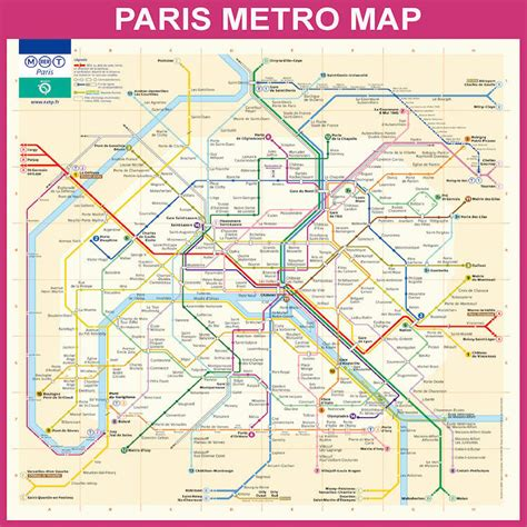printable version of paris metro map paris metro map pink canvas wall art by bill cannon