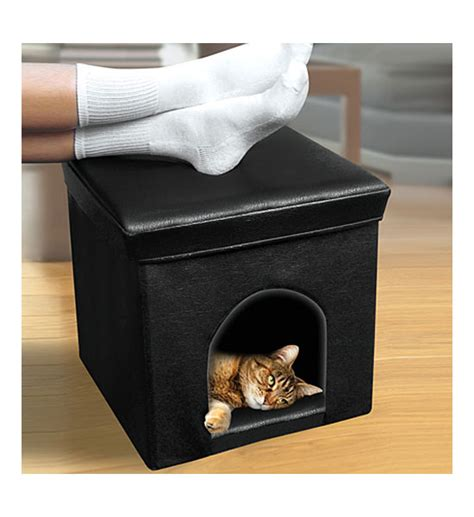 ottoman litter box cat litter ottoman decorative brown faux leather cat