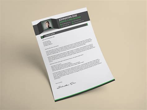 photoshop template letter creative resume cv cover letter portfolio psd template