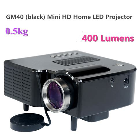 gm40 black mini hd home theater projector