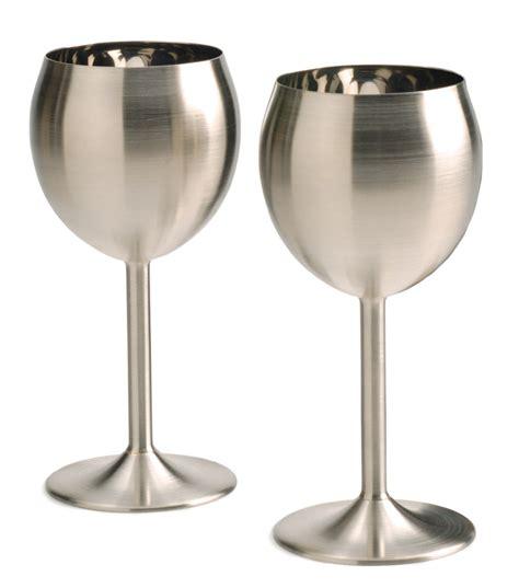 wine goblets rsvp 8oz stainless steel wine glasses goblets keeps wine