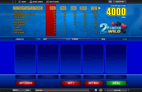 espresso games play deuces wild video poker from espresso games for free