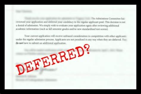 deferred college application letter the dos and don ts of being deferred smart college visit