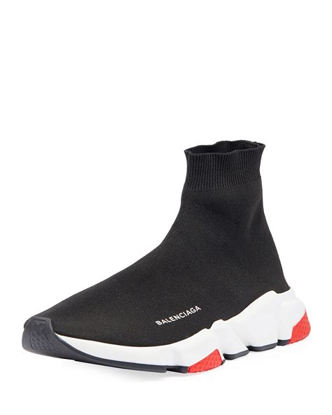 balenciaga s speed mid top trainer sock sneakers neiman