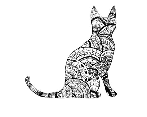 quot zentangle cat drawing quot photographic prints by ayseart un