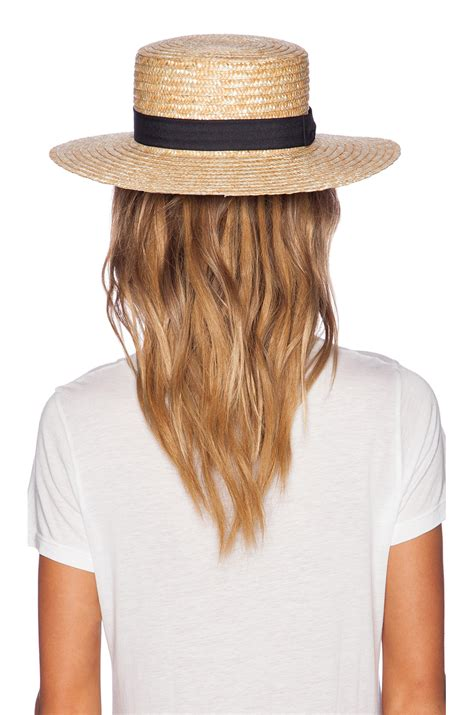 lack of color the spencer boater hat in brown lyst