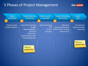project management powerpoint template free 5 phases of project management powerpoint slide