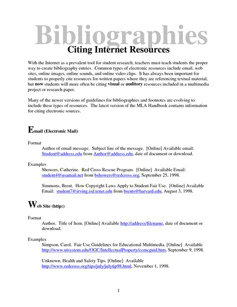 bibliography for a research paper cite a research paper