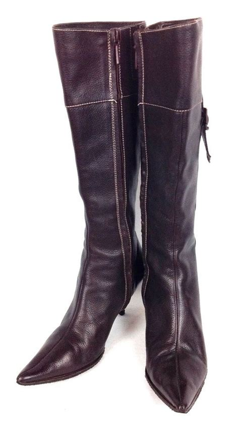 Zara Shoes Brown zara shoes womens brown leather knee high boots 6 36 zara