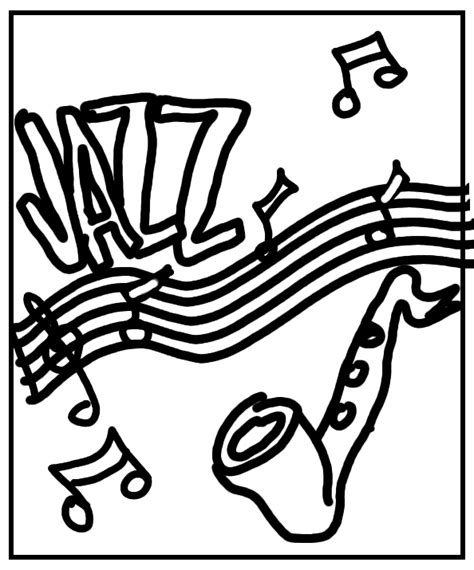 Jazz Music Coloring Pages | jazz music colouring pages
