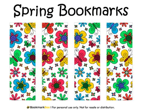 printable butterfly bookmarks free printable spring bookmarks download the pdf template