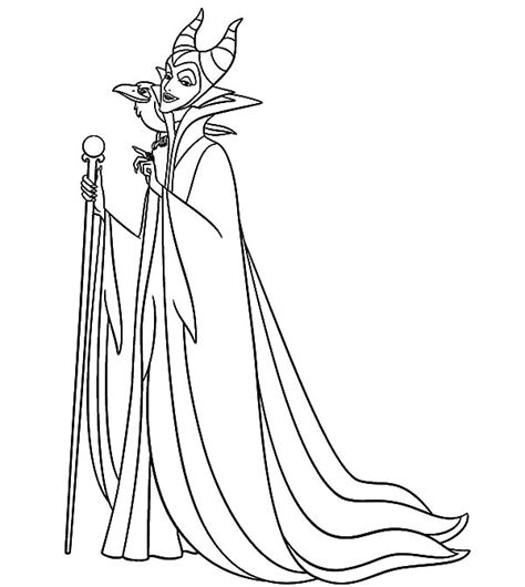 maleficent setting for scheming coloring pages color luna