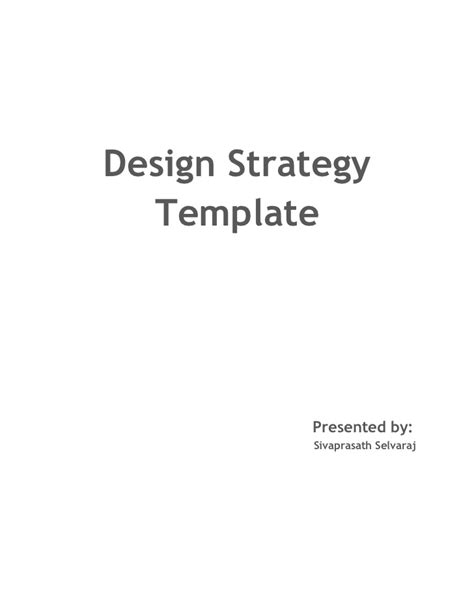 layout strategy slideshare design strategy template sivaprasath selvaraj