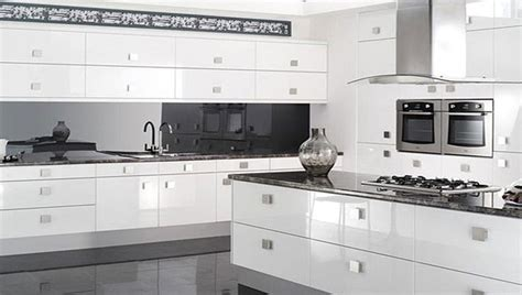 Shiny White Kitchen Cabinets | reflections high gloss white kitchen modern kitchen