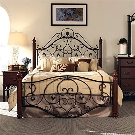 iron scroll bed frame wrought iron bed frame best deals and prices