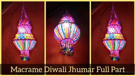 Decoration For Navratri At Home by Diy Macrame Jhumar Full Video Macrame Diwali Special