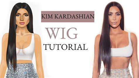 tutorial wig stardoll kim kardashian inspired wig tutorial stardoll youtube