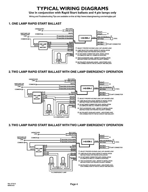 Typical wiring diagrams, Page 4, 2lrsb42j_ac two lamp