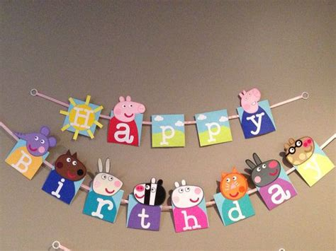 Handmade Happy Birthday Banner - handmade peppa pig happy birthday banner peppa