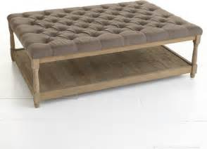 tufted leather ottoman coffee table editeestrela design