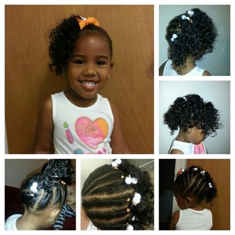 Ponytails For Biracial Children | twisted the entire head 4 ponytails mixed babies miyah