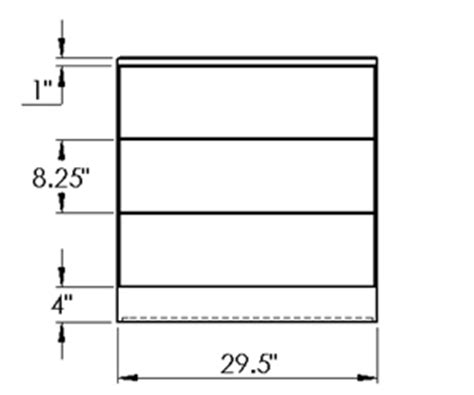 Dresser Measurement by Presidents Layout