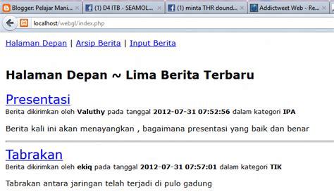 membuat web berita dengan php dan mysql membuat berita sederhana dengan php dan mysql ahmad subki