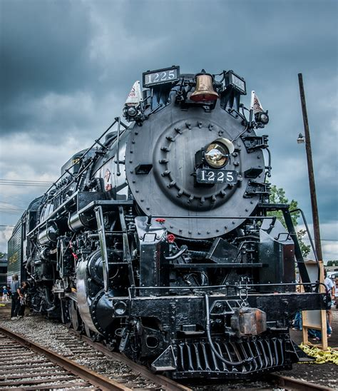 1225 steam locomotive cloudy day for pere marquette 1225