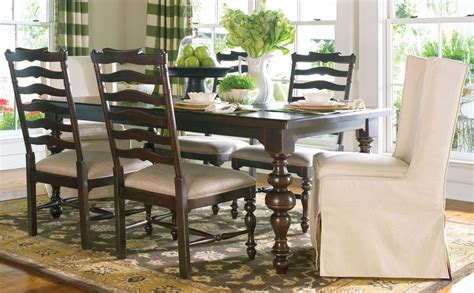 paula deen dining room set paula deen home tobacco rectangular extendable dining room
