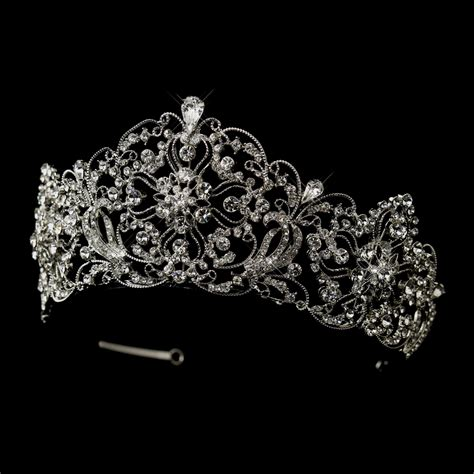 wedding tiaras and crowns antique silver rhodium royal bridal tiara elegant bridal