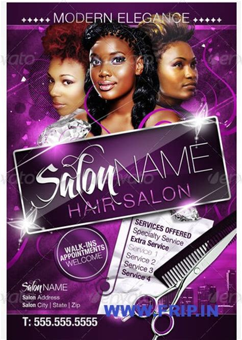 12 hair salon flyer psd images hair salon flyer