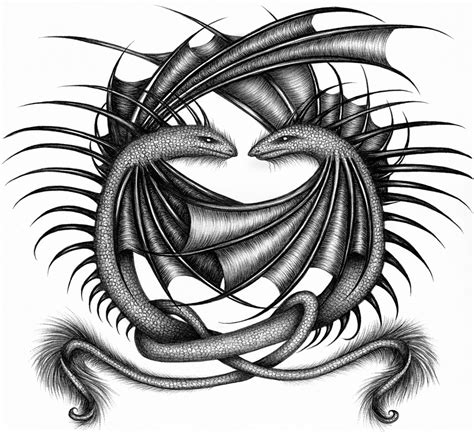 twin dragon tattoo designs selah design by machine guts on deviantart