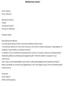 reference letter template 8ws templates amp forms