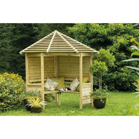 Forest Garden Venetian 4 Seater Wooden Corner Arbour Wayfair UK