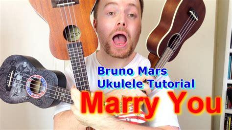 tutorial ukulele moon song marry you bruno mars ukulele tutorial youtube