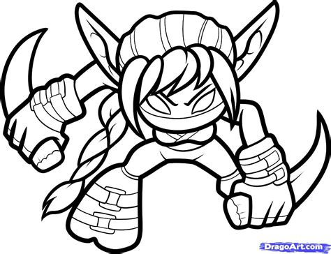 How To Draw Stealth Elf Skylanders Stealth Elf Step By Step Video Game Characters Pop Drawing For To Color