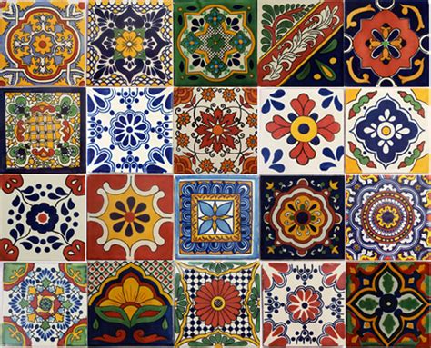 Handmade Ceramic Tiles Uk - 20 pcs talavera 6x6 handmade ceramic tile mexican mix ebay