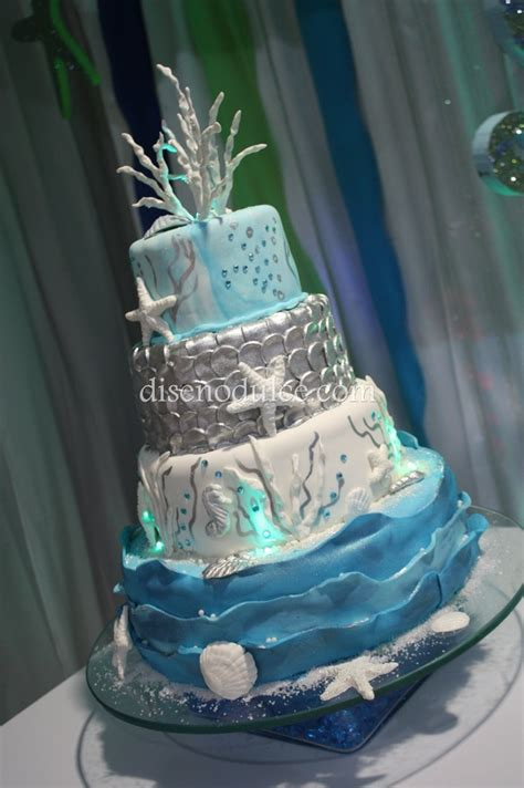 quinceanera themes under the sea under the sea cake sweet 16 party pinterest sea