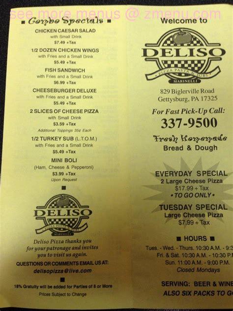 pizza house gettysburg online menu of deliso pizza restaurant gettysburg pennsylvania 17325 zmenu