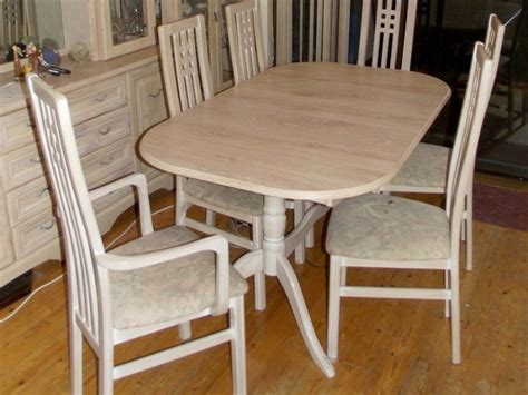 dining room table  chairs large small display cabinet