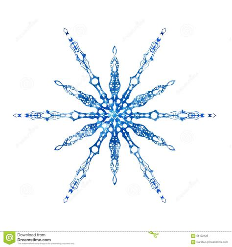 frozen snowflake on white background stock vector image