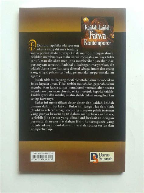 Buku Kitab Misteri Akhir Dunia Darussunnah buku kaidah kaidah fatwa kontemporer