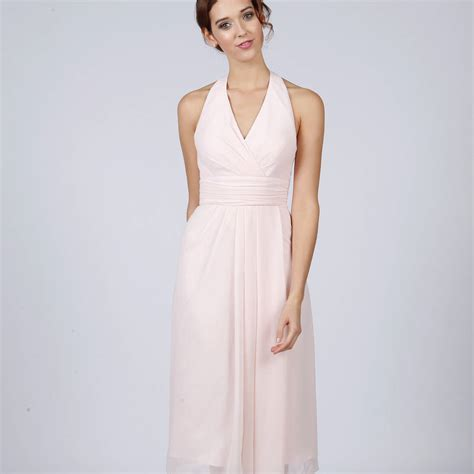 Halterneck Dress knee length halterneck bridesmaid or prom dress by matchimony notonthehighstreet