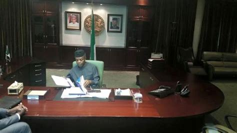 I Resumed Office Today by Vice President Osinbajo Also Resumed Aso Rock Office Today